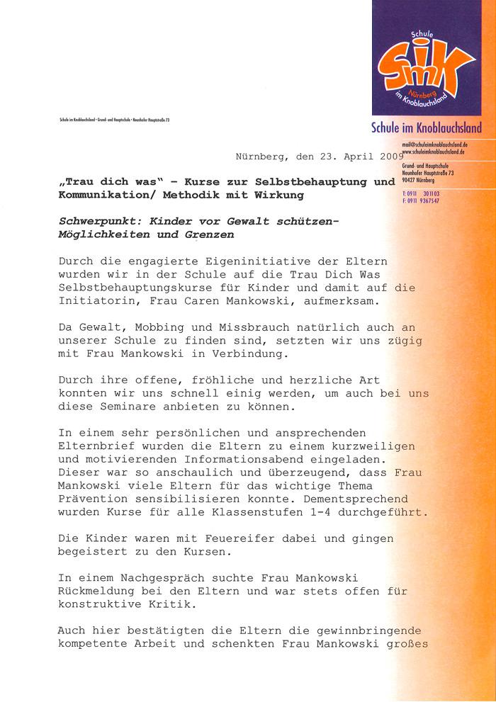 Refrenz: Friedrich Städtler Grundschule Nürnberg 01
