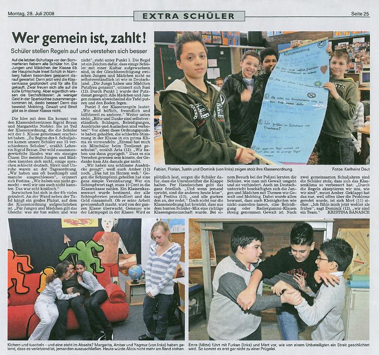Presse: Trau Dich Was in der Hauptschule Insel Schütt