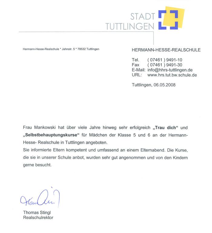 Referenz: Hermann Hesse Realschule
