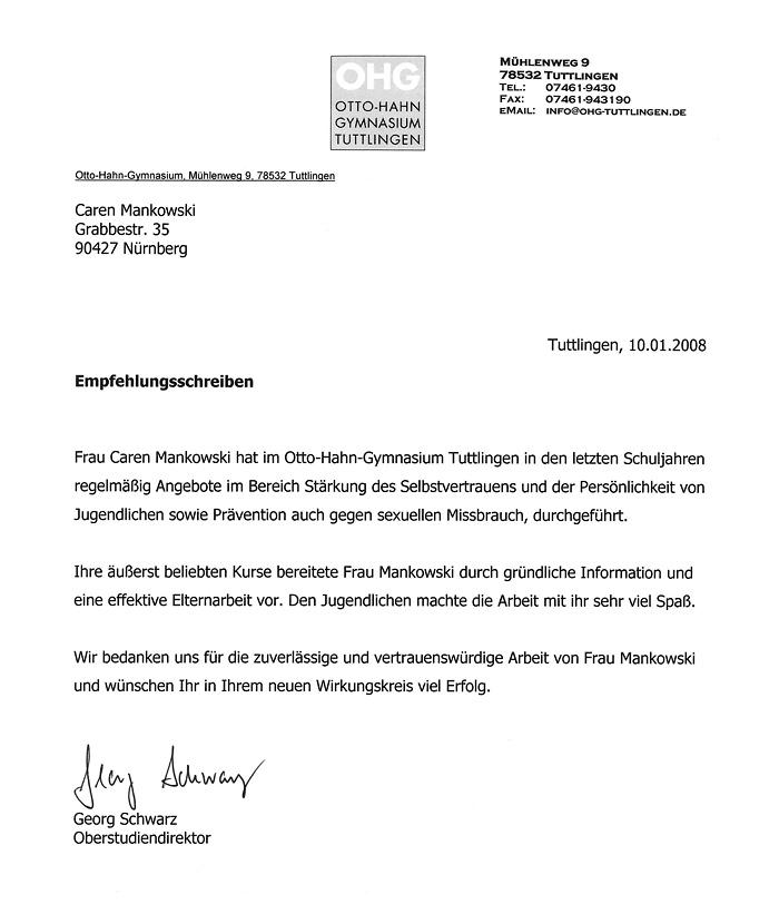 Referenz: Otto Hahn Gymnasium