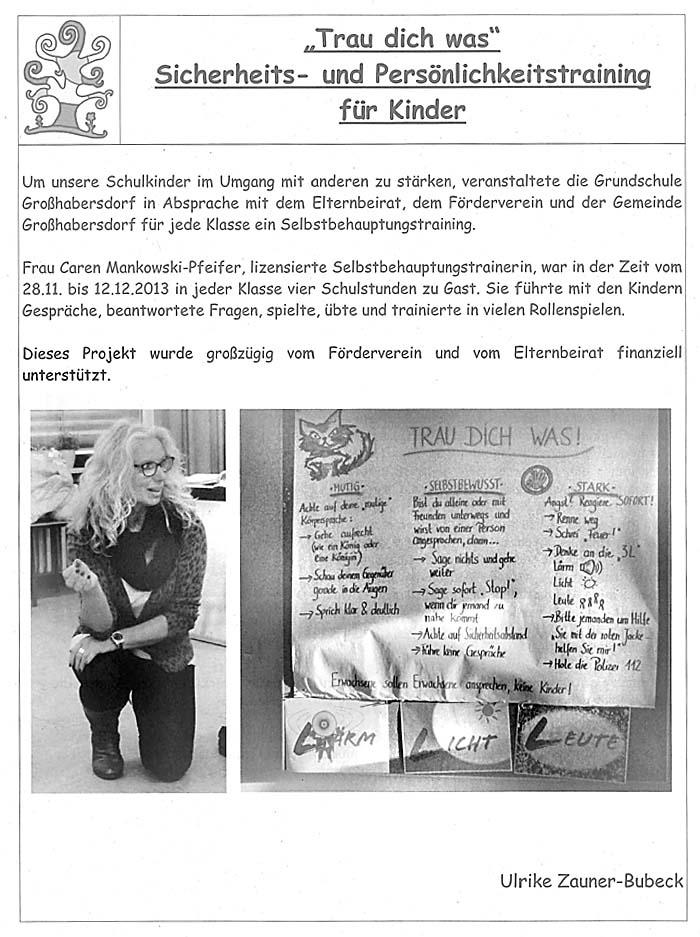 Refrenz: Kindergarten Grundschule Grosshabersdorf